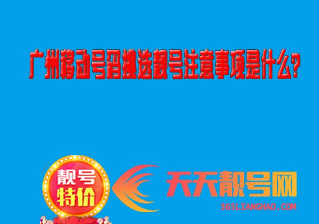 广州移动号码挑选靓号注意事项是什么?